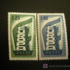 Sellos: ITALIA 1956 IVERT 731/2 *** EUROPA. Lote 22091089