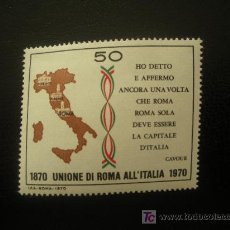 Sellos: ITALIA 1970 IVERT 1053 *** CENTENARIO AFILIACION DE ROMA A ITALIA - MAPA. Lote 21000797