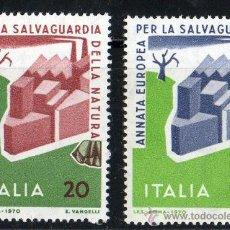 Sellos: ITALIA AÑO 1970 YV 1063/64*** AÑO EUROPEO PARA LA PROTECCIÓN DE LA NATURALEZA Y EL MEDIO AMBIENTE. Lote 22672251