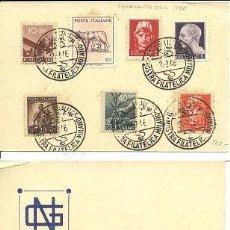 Sellos: 0002 ITALIA EXPOSICION FILATELICA DE 1946 (ANVERSO Y REVERSO). Lote 22795453