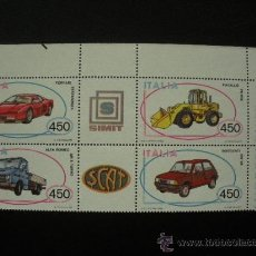 Sellos: ITALIA 1986 IVERT 1712/5 *** AUTOMOVILES ITALIANOS (III). Lote 22983386