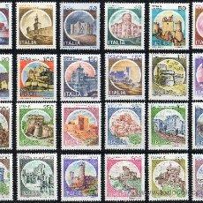 Sellos: ITALIA AÑO 1980 YV 1433/56*** CASTILLOS Y PALACIOS - ARQUITECTURA - TURISMO. Lote 26505764