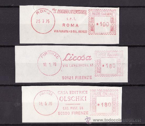 FRAGMENTOS FRANQUEO MECANICO ROMA FLORENCIA 1970 TEMATICA LIBROS Y EDITORIALES (Sellos - Extranjero - Europa - Italia)