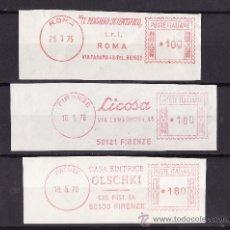 Sellos: FRAGMENTOS FRANQUEO MECANICO ROMA FLORENCIA 1970 TEMATICA LIBROS Y EDITORIALES. Lote 27476320