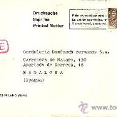 Sellos: SOBRE CIRCULADO DE ITALIA CON 2 SELLOS Y MATASELLOS - 1976. Lote 27304469