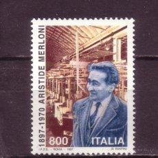 Sellos: ITALIA 2274*** - AÑO 1997 - CENTENARIO DEL NACIMIENTO DE ARISTIDE MERLONI. Lote 27908221