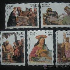 Sellos: ITALIA 2000 IVERT 2416/20 *** AÑO SANTO 2000 - RELIGIÓN - PINTURA. Lote 29924445