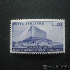 Sellos: ITALIA 1951 IVERT 594 *** CONSAGRACION DEL ARA PACIS - ALTAR DE LA PAZ - MONUMENTOS. Lote 29924805