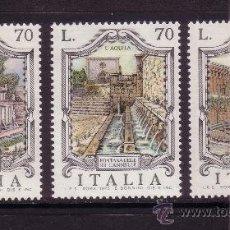 Sellos: ITALIA 1237/39*** - AÑO 1975 - ARQUITECTURA - FUENTES DE ITALIA. Lote 30047979