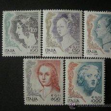 Sellos: ITALIA 1998 IVERT 2312/6 *** LA MUJER EN EL ARTE - PINURA Y ESCULTURA. Lote 31035647