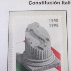 Sellos: SERIE SELLOS ITALIA 50 AÑOS CONTITUCION.FACIAL 800.AÑO 1998.NUEVO. Lote 32108447