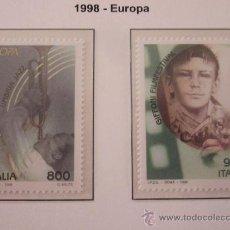 Sellos: SERIE SELLOS ITALIA TEMA EUROPA 1998.FACIAL 1700.AÑO 1998.NUEVOS. Lote 32108459