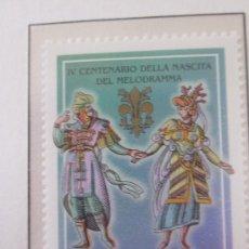 Sellos: SERIE SELLOS ITALIA 400 AÑOS MELODRAMA.FACIAL 800.AÑO 1998. Lote 32108515