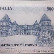 Sellos: SERIE SELLOS ITALIA POLITECNICO DE TURIN.FACIAL 800.AÑO 1998. Lote 32108605
