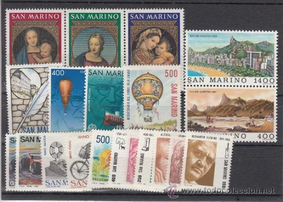 SAN MARINO 1067/86 SIN CHARNELA, AÑO 1983 VALOR CAT 28.25 EUROS + (Sellos - Extranjero - Europa - Italia)
