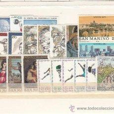 Sellos: SAN MARINO 1004/23 SIN CHARNELA, AÑO 1980 VALOR CAT 13.45 EUROS +. Lote 32575411