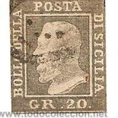 Sellos: SICILIA. 20 GRANI. MARQUILLA DE AUTENTICIDAD LATORRE. LAS PALMAS. Lote 32653238