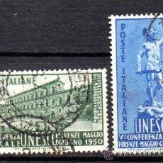 Sellos: ITALIA.- YVERT Nº 556/57, EN USADO (ITAL-66). Lote 33435608
