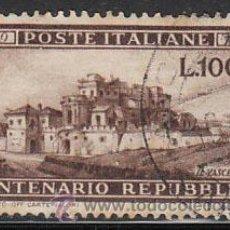 Sellos: ITALIA IVERT 537, CENTENARIO DE LA REPUBLICA ROMANA, USADO, ENVIO CERTIFICADO GRATIS. Lote 34926716