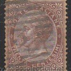 Sellos: ITALIA IVERT Nº 18 (AÑO 1863), VICTOR MANUEL II, USADO. Lote 35014703