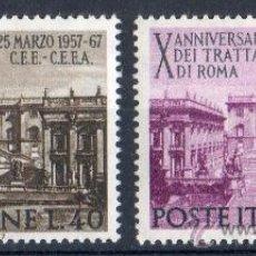 Sellos: ITALIA AÑO 1967 YV 961/62*** X ANVº DEL TRATADO DE ROMA - MONUMENTOS - TURISMO - VISTAS Y PAISAJES. Lote 35019641