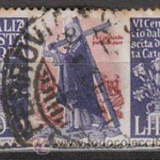 Sellos: ITALIA AEREO IVERT 129 (AÑO 1948), 6º CENTENARIO DE SANTA CATERINA DE SIENA, USADO. Lote 35399388