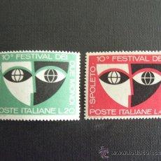 Sellos: ITALIA Nº YVERT 975/6*** AÑO 1967. 10º FESTIVAL DE DOS MUNDOS, EN SPOLETO. Lote 256038340