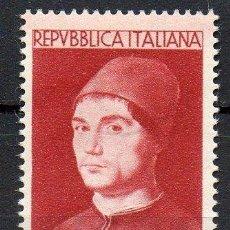 Sellos: ITALIA AÑO 1953 YV 644*** EXPOSICION DE OBRAS DE ANTONELLO DE MESSINA - PERSONAJES - PINTURA - ARTE. Lote 39465565