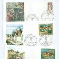 Sellos: ITALIA 4 SOBRES PRIMER DIA, AÑO 1976. Lote 40148542