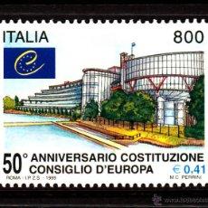 Sellos: ITALIA 2369** - AÑO 1999 - 50º ANIVERSARIO DEL CONSEJO DE EUROPA. Lote 40299692