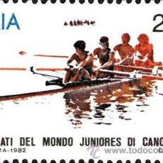 Timbres: ITALIA 1982 SCOTT 1524 SELLO * CAMPEONATO DEL MUNDO JUNIOR DE REMO MICHEL 1808 YVERT 1540 ITALY. Lote 40356682
