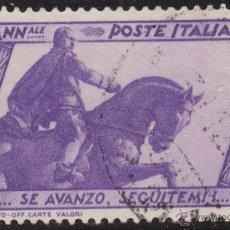Timbres: ITALIA 1932 SCOTT 297 SELLO º REINO IMPERIO ESTATUA DE MUSSOLINI EN BOLOGNA MICHEL 422 YVERT 312. Lote 40361163