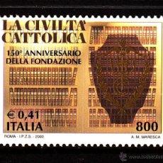 Sellos: ITALIA 2421** - AÑO 2000 - 150º ANIVERSARIO DE LA REVISTA CIVILTA CATTOLICA. Lote 40362781