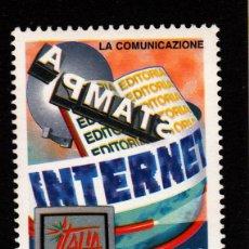 Sellos: ITALIA 2341** - AÑO 1998 - DÍA DE LA COMUNICACIÓN - EXPOSICION FILATELICA INTERNACIONAL ITALIA 98. Lote 40466093