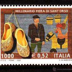 Sellos: ITALIA 2444** - AÑO 2000 - MILENARIO DE LA FERIA DE SANT ORSO - ARTESANÍA. Lote 40466222