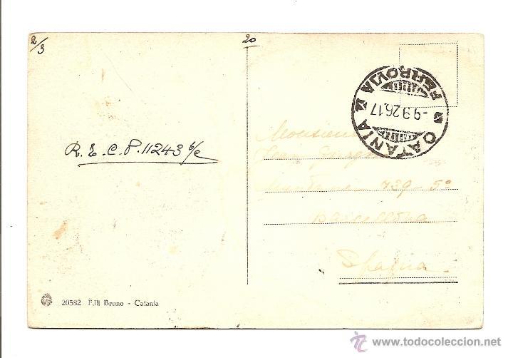Sellos: POSTAL CIRCULADA AÑO 1917 DE ITALIA A ESPAÑA - VISTA DE SCOGLI DEI CICLOPI - Foto 2 - 40883096