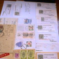 Sellos: .HISTORIA POSTAL MODERNA CIRCULADA ITALIA12 SOBRES, 16 ETIQUETA, 3 MECANICO Y 2 TARJETAS, DIVERS+F. Lote 41235122