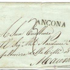 Sellos: ITALIA.PREFILATELIA. 18653 CARTA CIRCULADA CON LA MARCA ANCONA. Lote 42111872