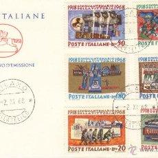 Sellos: ITALIA SOBRE PRIMER DIA 1968 ANIVERSARIO VICTORIA 1022 -1027 SPD. Lote 43770715