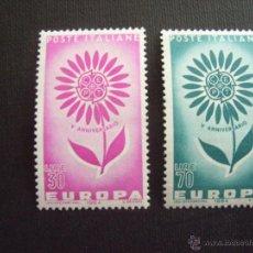 Sellos: ITALIA Nº YVERT 907/8** AÑO 1964. EUROPA..SERIE CON CHARNELA. Lote 44063402