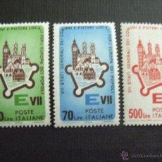 Sellos: ITALIA Nº YVERT 909/1** AÑO 1964, REUNION DE PAISES DE COMUNIDAD ECON. EUROPEA..SERIE CON CHARNELA. Lote 44063443