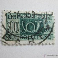 Sellos: Aº SELLO-ITALIA-200 LIRAS-PEQUEÑO-MATASELLOS-.. Lote 44105565