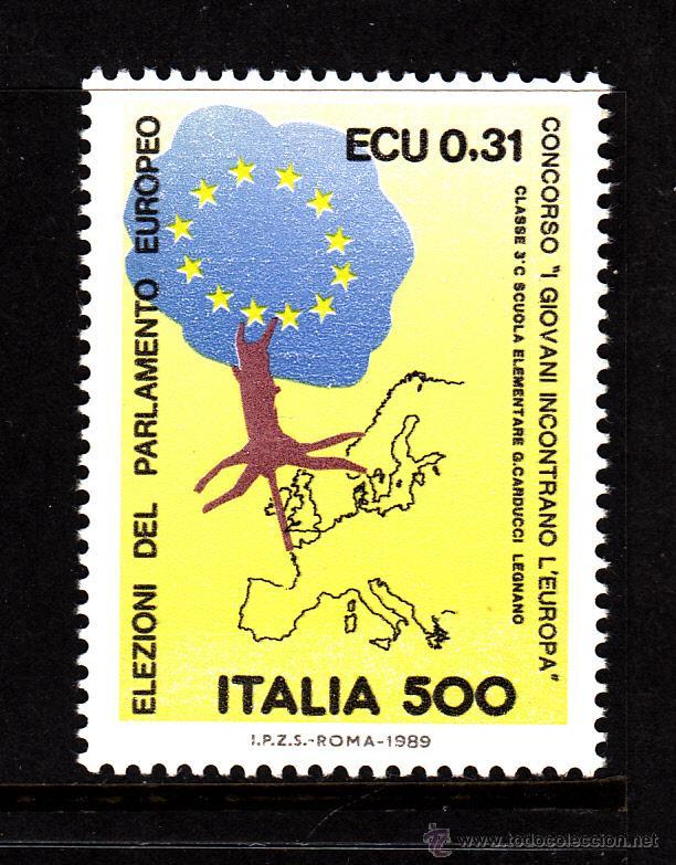 ITALIA 1815** - AÑO 1989 - 3º ELECCIONES AL PARLAMENTO EUROPEO (Sellos - Extranjero - Europa - Italia)