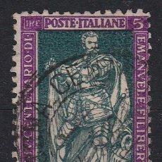 Sellos: ITALIA. 1928. IV CENTENARIO DE MANUEL FILIBERTO Y X ANIVERSARIO DE LA VICTORIA. SASSONE 229. Lote 46547525