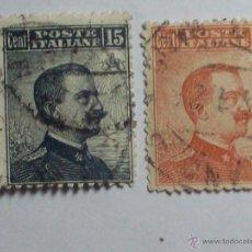 Sellos: LOTE DE 2 SELLOS CLASICOS ITALIA (POTE ITALIANE) 15 - 20 CENT.. Lote 46624793
