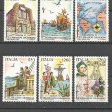Sellos: ITALIA YVERT NUM. 1976/1981 ** SERIE COMPLETA SIN FIJASELLOS CRISTOBAL COLON. Lote 47492898