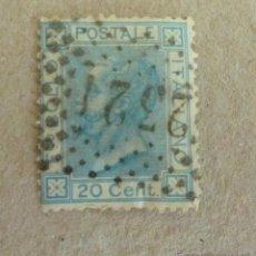 Sellos: VICTOR MANUEL II. 1867. 20 CTM. Lote 47574285
