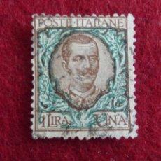 Sellos: VICTOR MANUEL III, 1901 1LIRA. Lote 47574353