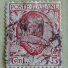 Sellos: VICTOR MANUEL III, 75 CENT. 1926, TIPO DE 1901. Lote 47574469