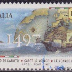 Timbres: ITALIA 1997 SCOTT 2162 SELLO º CENT. DESEMBARCO GIOVANNI CABOTO EN LA COSTA CANADIENSE MICHEL 2519. Lote 48828885